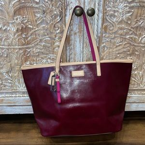 Coach Park Metro Tote in Burgundy New